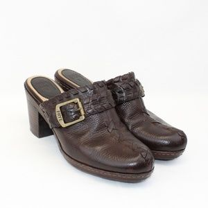 FRYE Candy Lace Heeled Clogs